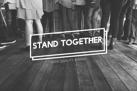meetup: Stand Together Community Family Friendship Concept Stock Photo