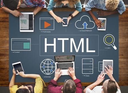 Web-Seite Webinar HTML-Browser-Konzept