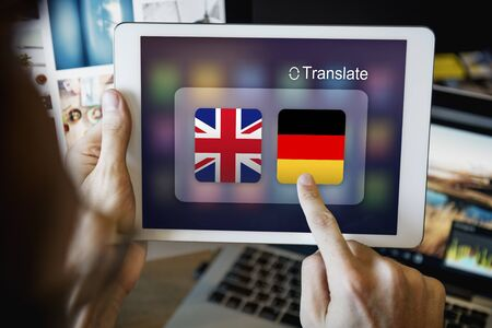 foreign: Flag Countries Foreign Word Translation Concept Stock Photo
