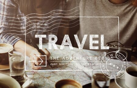 Travel Holiday Wanderlust Trip Concept Stock Photo