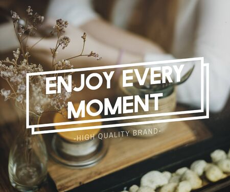delightful: Enjoy Every Moment Enjoyment Pleasurable Happiness Delightful Concept Stock Photo