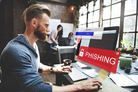 Fraud Hacking Spam Scam Phising Concept Stockfoto