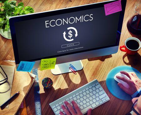 banco mundial: Econom�a Financiera Comercio Concepto Gr�fico financiera Foto de archivo