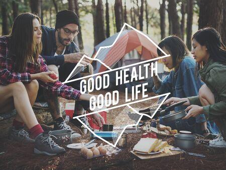 bonne aventure: Camping Adventure Trekking Nature Relaxation Concept