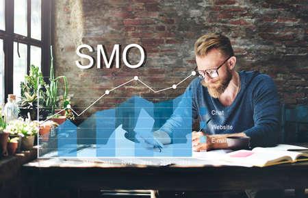 smo: Analytics Statistics Progress SMO Analysis Concept