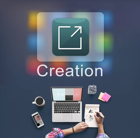 invention: Creation Design Digital Gadget Invention Graphic Concept Stock Photo