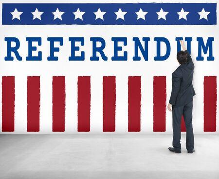 Politics Government Referendum Democracy Vote Concept Stock Photo