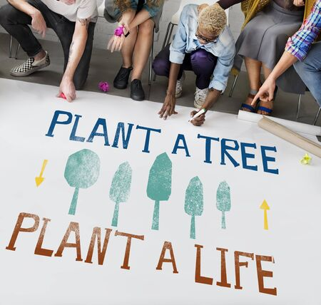 ecological problem: Plant A Tree Life Ecology Concept Stock Photo