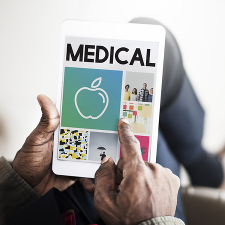 finding a cure: Apple Nutrition Healthcare Wellbeing Browsing Concept