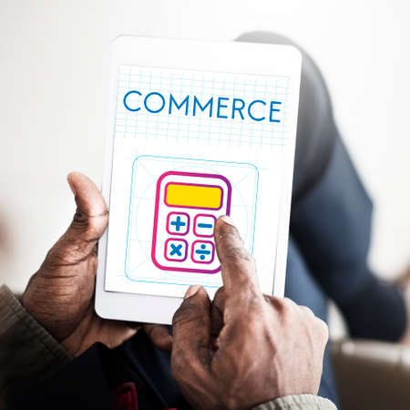 commerce: Saving Trade Account Commerce Concept