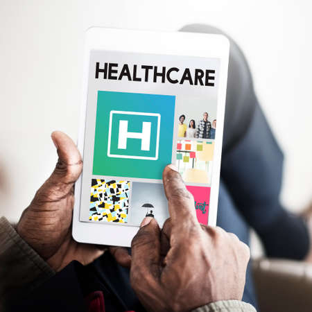 finding a cure: Hospital Healthcare Treatment Browsing Concept