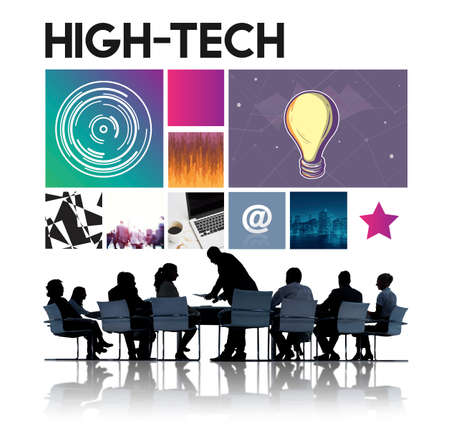 cyberspace: Hi-Tech Technology Cyberspace Network Concept Stock Photo