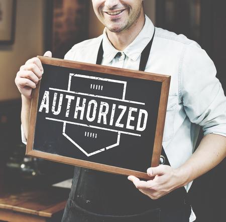 authorisation: Authorize Allowance Approve Permit Graphic Concept
