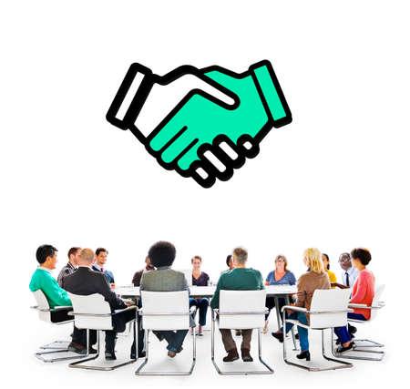 Trust Handshake Partnership Coooperation Graphic Concept