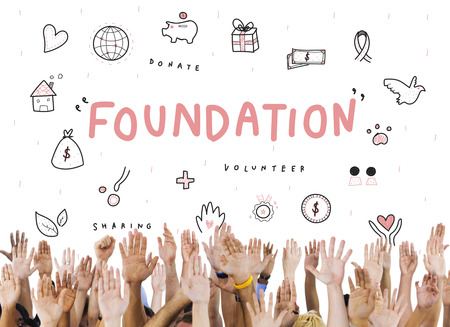 raise your hand: Foundation Donations Charity Support Concept
