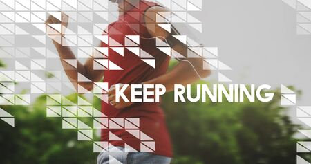 Keep Running Activity Exercise Healthy Fitness Sprint Concept