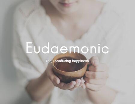 Eudaemonic Happiness Enjoyment Cheerful Carefree Concept Stock Photo