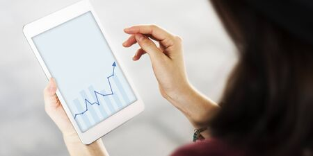 Growth Investment Bar Graph Analysis Concept Stock Photo