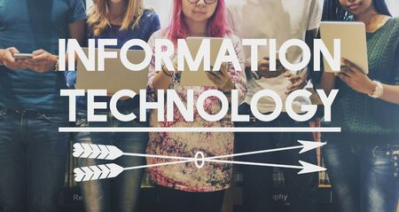 infotech: Information Technology Data System Concept