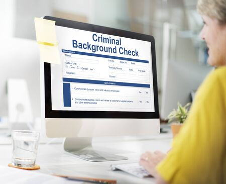 Criminal Background Check Insurance Form Concept Stock Photo