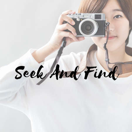 seek: Seek Find Searching Discover Exploration Inspect Concept