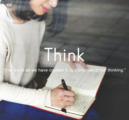 visionary: Think Ideas Creativity Strategy Visionary Planning Thinking Concept Stock Photo