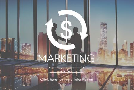 business cycle: Marketing Business Cycle Economy Financial Concept Stock Photo