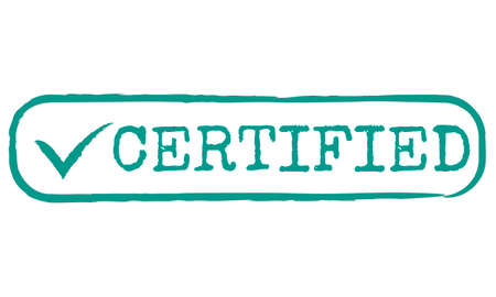result: Certified Result Status Approve Decision Graphic Concept Stock Photo