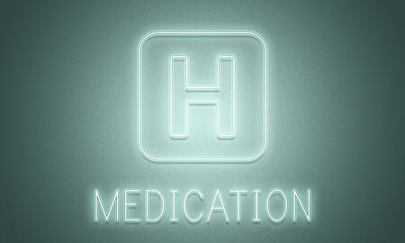 cure: Hospital Cure Health Treatment Icon Graphic Concept