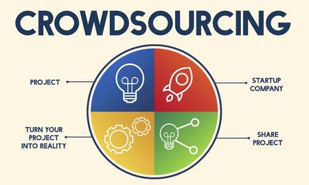 Crowdsourcing chart Stock Photo