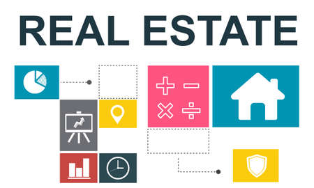 real estate investment: Real Estate Property Investment House Chart Concept