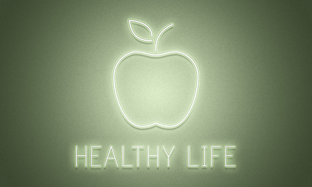 An apple with healthy life concept Imagens - 110851917