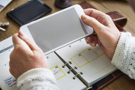 personal organizer: Appointment Checklist Planning Personal Organizer Concept Stock Photo