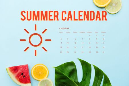 Summer Calendar Schedule Fun Happiness Concept