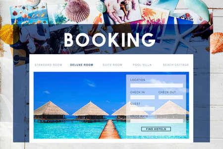 reservation: Booking Hotel Reservation Travel Destination Concept