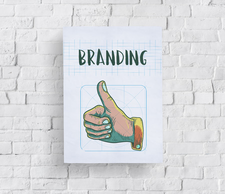 thumps up: Branding Design Practice Success Creative Concept Stock Photo
