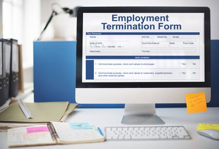 place of employment: Employment Termination Form Page Graphic Concept