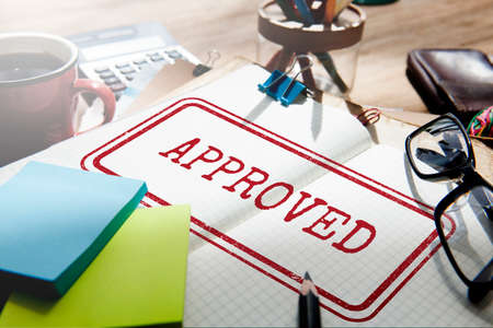 Approved Authentic Quality Guaranteed Product Concept Stock Photo