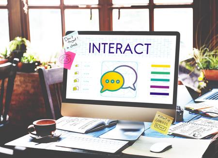 Concepto de la discusión Interact Tendencias de conexión