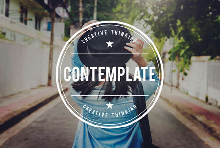 to contemplate: Contemplate Thinking Inspiration Thoughtful Concept