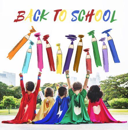 enjoyment: SuperKids Back To School Enjoyment Concept