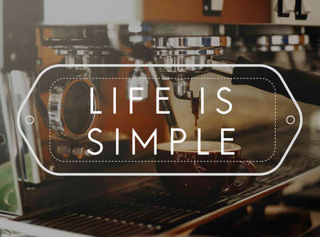 caffeinated: Beverage Barista Steam Coffee Chill Awakening Concept Stock Photo