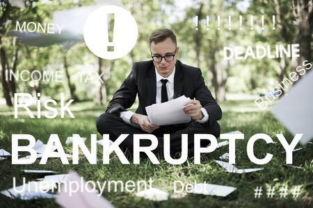 Business Failure Bankruptcy Financial Crisis Recession Concept