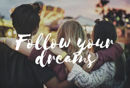 hopeful: Follow Your Dreams Aspiration Hopeful Vision Concept Stock Photo