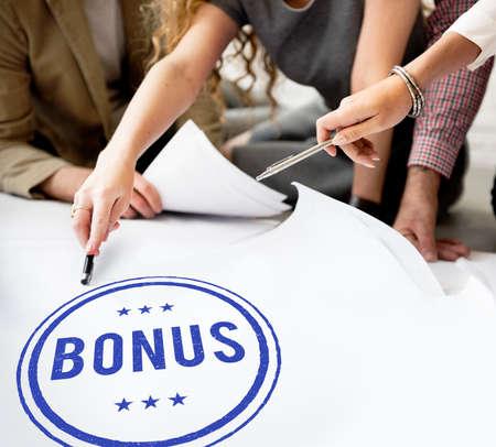 additional compensation: Bonus Prize Profit Incentive Additional Compensation Concept