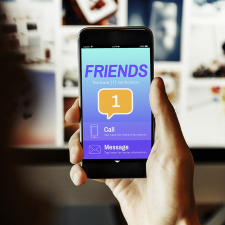 Friends Social Communication Message Graphic Concept Stok Fotoğraf - 62640912