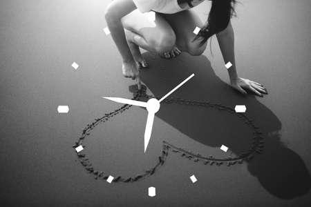 punctual: Concepto Duración Tiempo Puntual Programación del cronómetro Foto de archivo