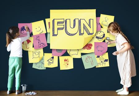 playful: Children Playful Happiness Enjoyment Childhood Concept