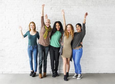 Group of Women Happiness Cheerful Concept Фото со стока