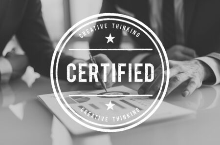Certified Guarantee Warranty Verify Stamp Word Concept